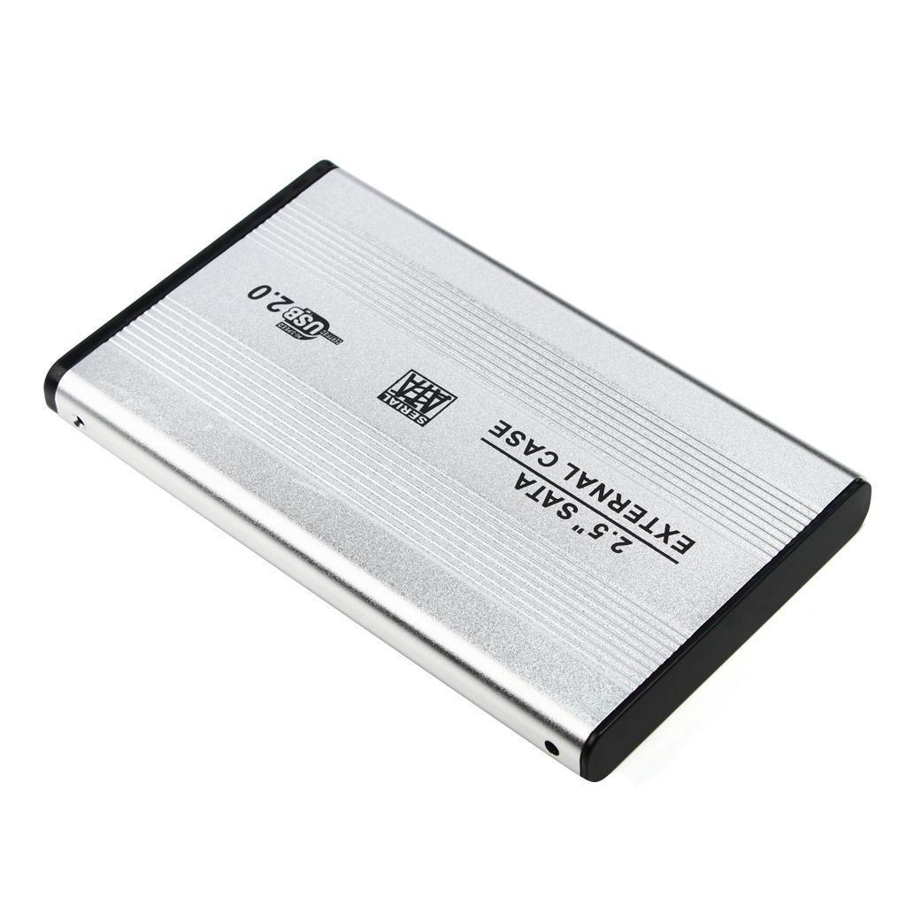 Custodia-esterna-in-alluminio-per-disco-rigido-SATA-USB-2-0-da-2-5-034-con-disco miniatura 13