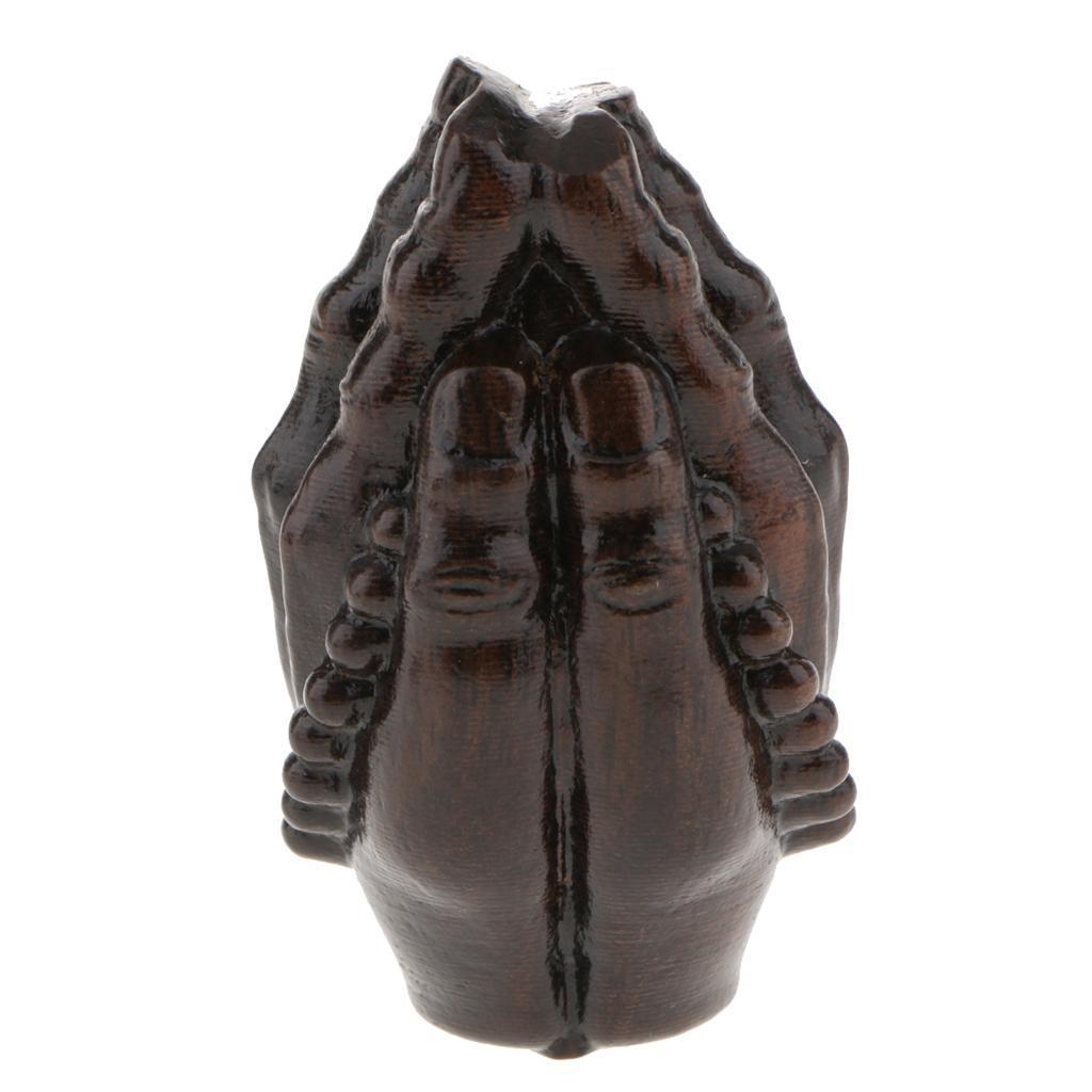 miniatura 10 - Statuetta buddista in legno Figurina India Buddha Head Statue Craft Ornament