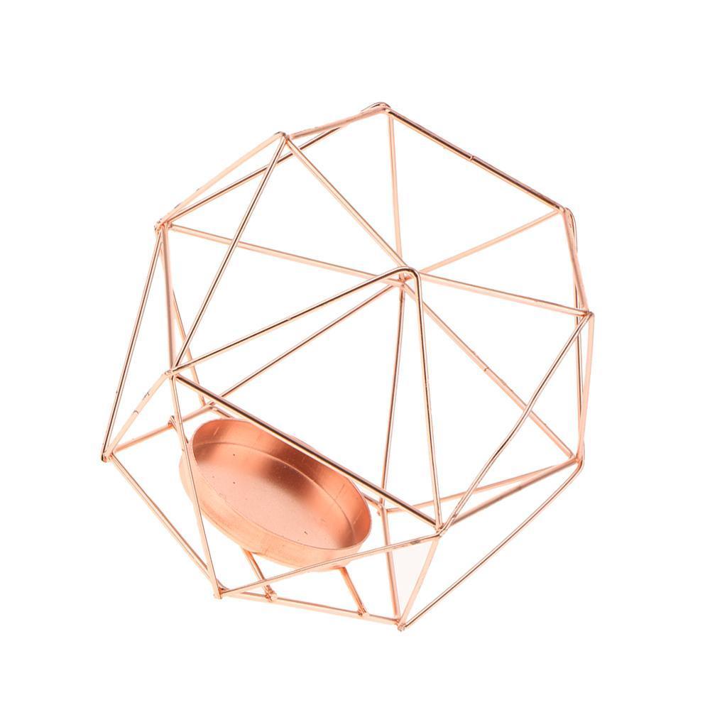 Lovoski-Wedding-Wire-3D-Geometric-Tealight-Candle-Holder-Candelabra-Candlestick thumbnail 25