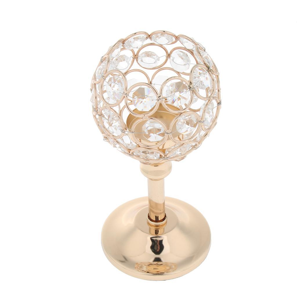CRYSTAL-TABLE-STAND-CANDLE-HOLDER-CANDLESTICK-WEDDING-HOLIDAYS-CHRISTMAS-EVENTS thumbnail 42