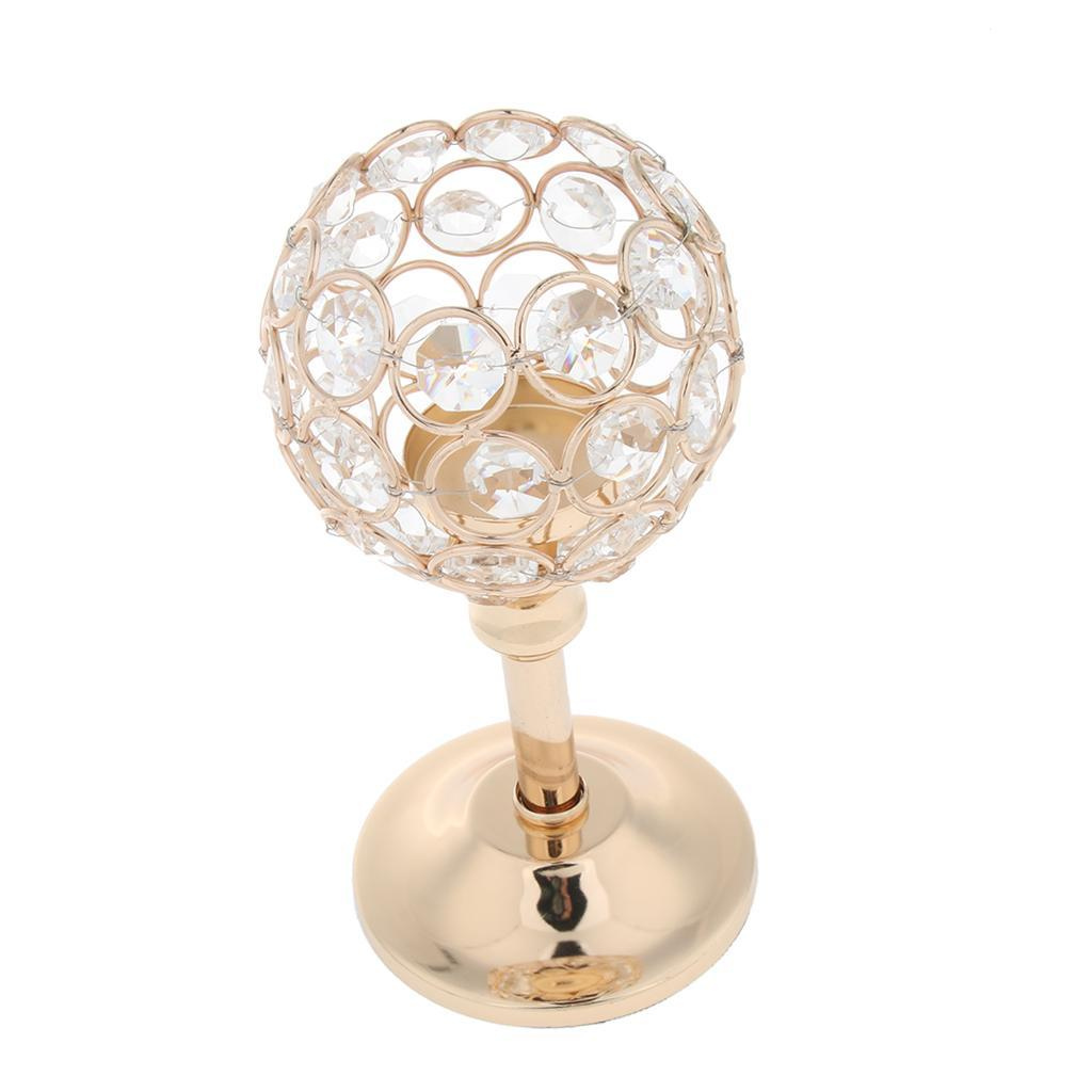 CRYSTAL-TABLE-STAND-CANDLE-HOLDER-CANDLESTICK-WEDDING-HOLIDAYS-CHRISTMAS-EVENTS thumbnail 43