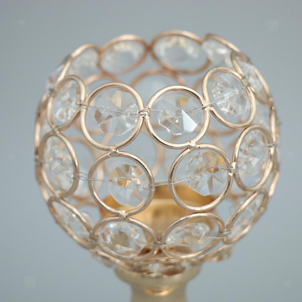Porte-bougie-En-Cristal-Mosaique-Supporte-de-Bougie-pour-Fete-Decoration miniature 45