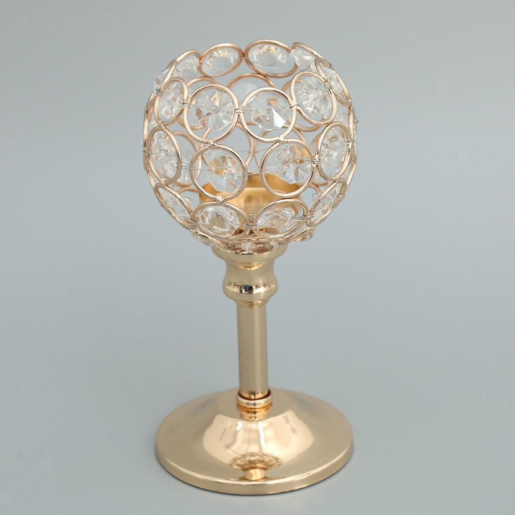 CRYSTAL-TABLE-STAND-CANDLE-HOLDER-CANDLESTICK-WEDDING-HOLIDAYS-CHRISTMAS-EVENTS thumbnail 47