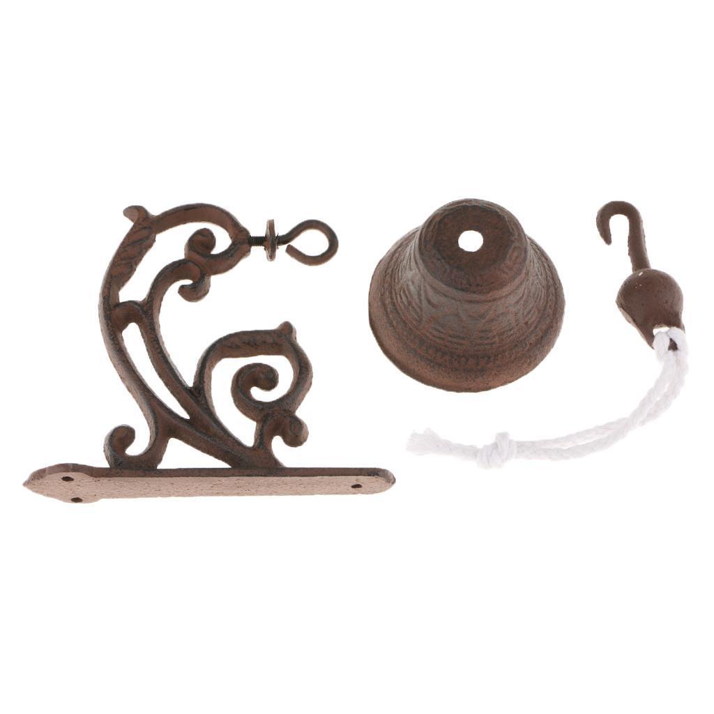 miniatura 9 - Campanello per porta appeso in stile antico in ghisa da parete Decoro da