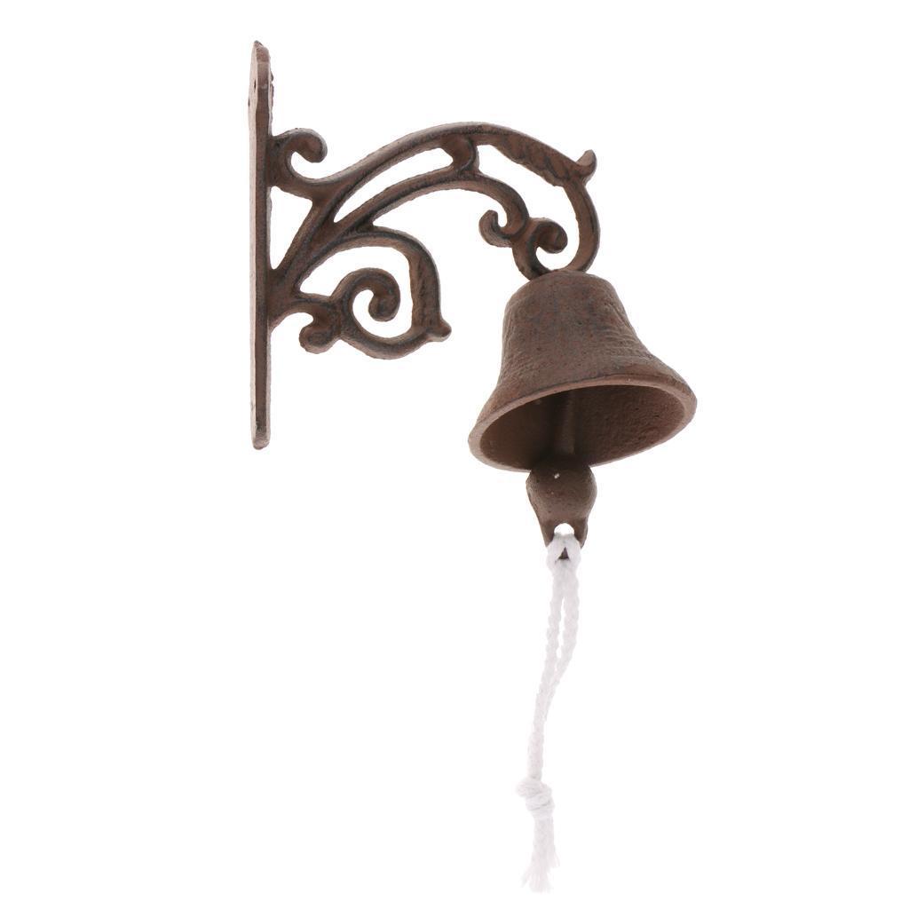 miniatura 10 - Campanello per porta appeso in stile antico in ghisa da parete Decoro da