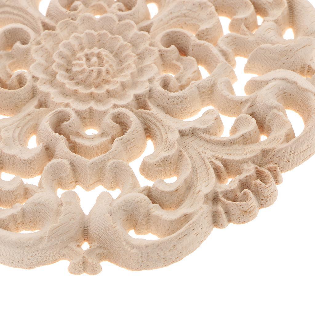10-12-15-20cm-European-Style-Elegant-Wooden-Furniture-Decal-Door-Window-Decor thumbnail 7