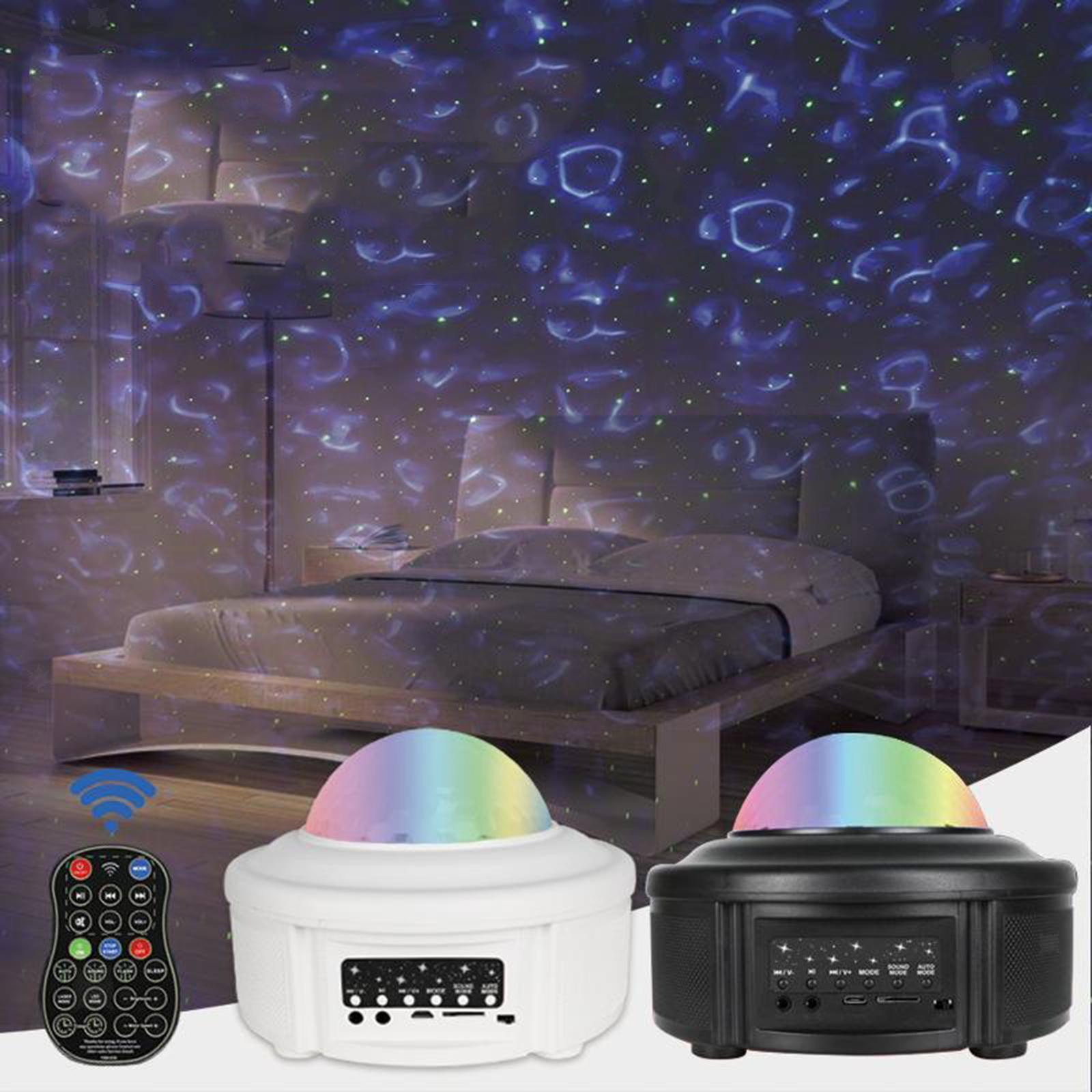 miniatura 7 - Bluetooth-LED-Galaxy-Proiettore-Lampada-notturna-stellata-Luce-notturna-a