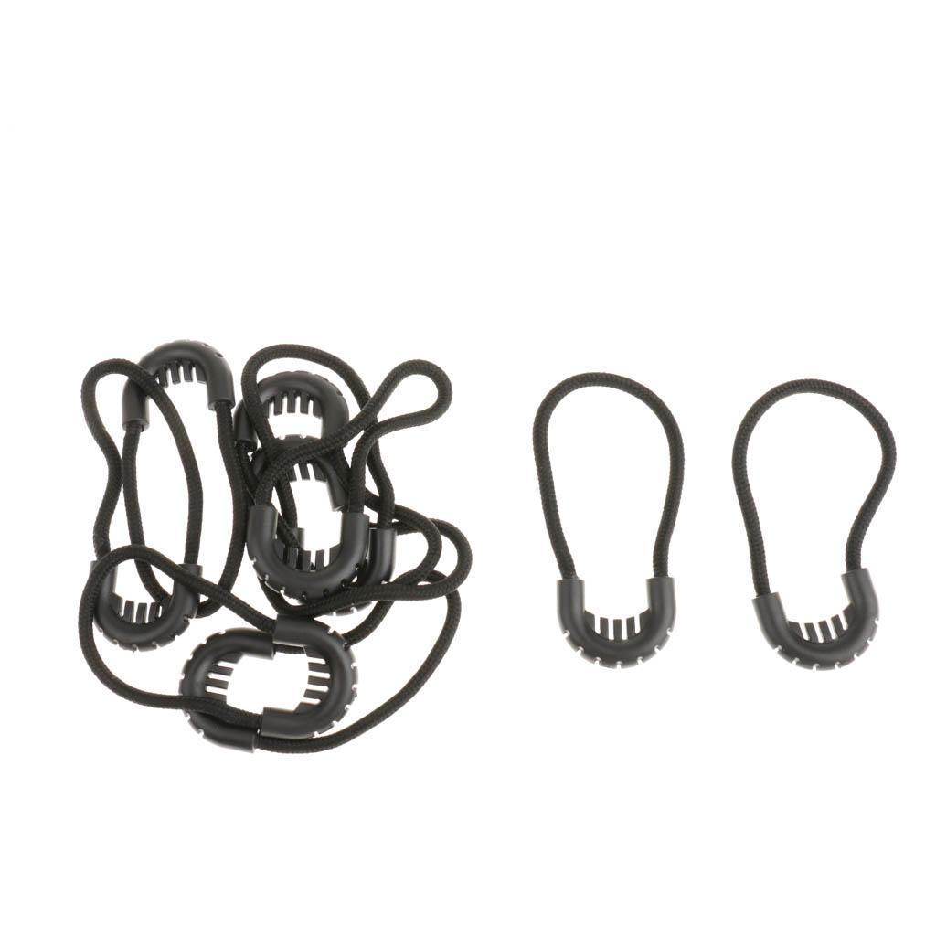 Lot 10pcs Tactical Zipper Pull Cord Zip Puller Zip Fastener Replacement Tan