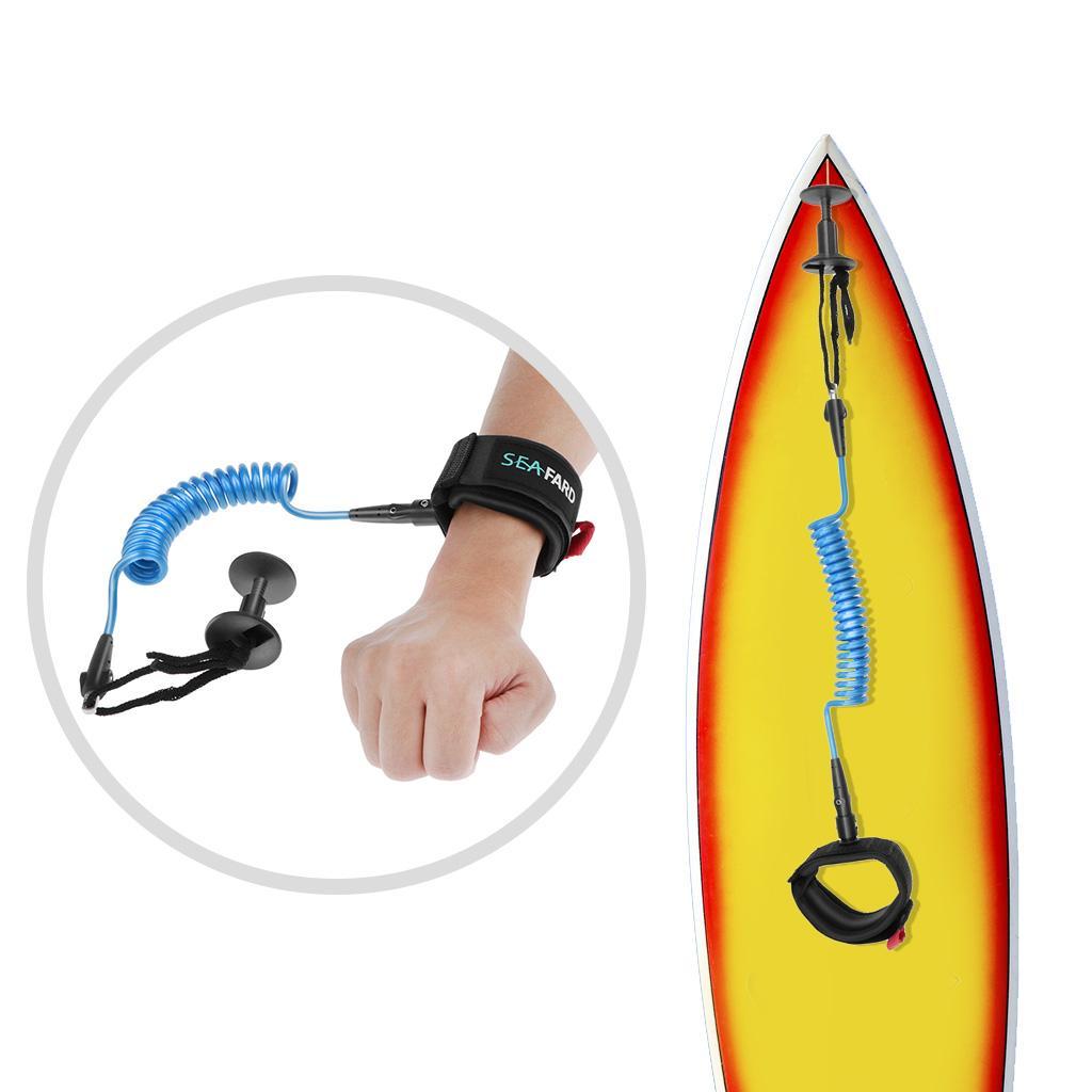 Surfboard Coiled Wrist Leash Bicep Leash Wrist Arm Strap with Plug