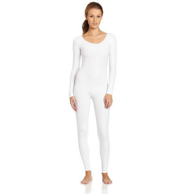 Scoop-Neck-Full-Body-Dance-Unitard-Bodysuit-Costume-Long-Sleeve-Unitard-Womens thumbnail 3