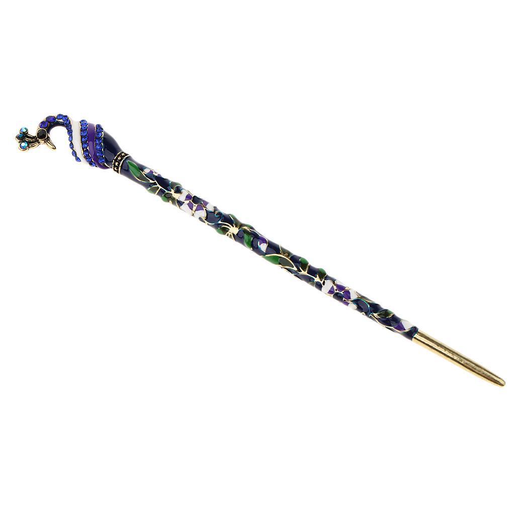 Antique-Rhinestone-Decor-Hair-Stick-Fork-Hairpin-Chignon-Pin-Accessories thumbnail 3