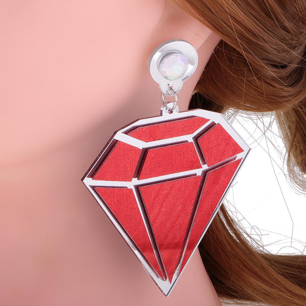 Punk-Boho-Large-Diamond-Shape-Earrings-Acrylic-Ear-Studs-Women-Fashion-Jewelry thumbnail 3