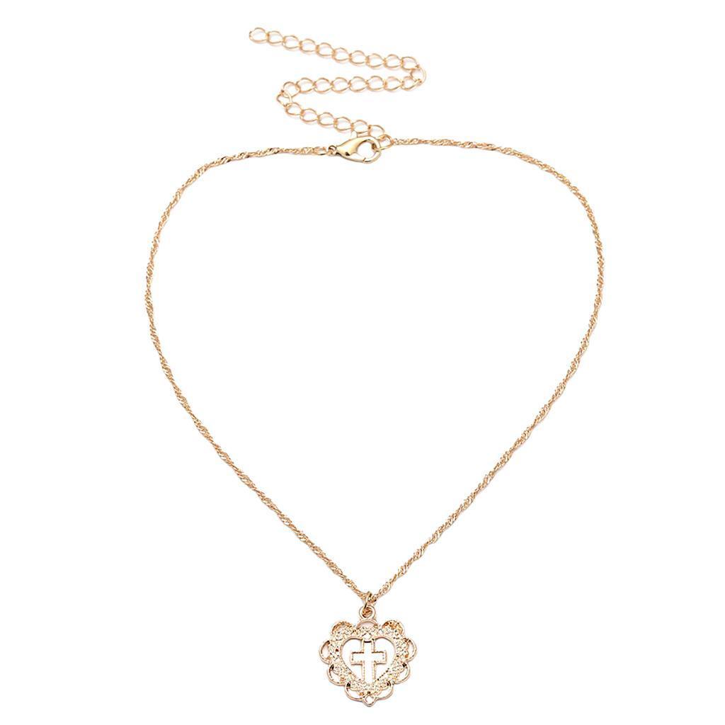 Cross-Jesus-Pendant-Love-Heart-Charms-Necklace-Women-Girls-Birthday-Jewelry thumbnail 4