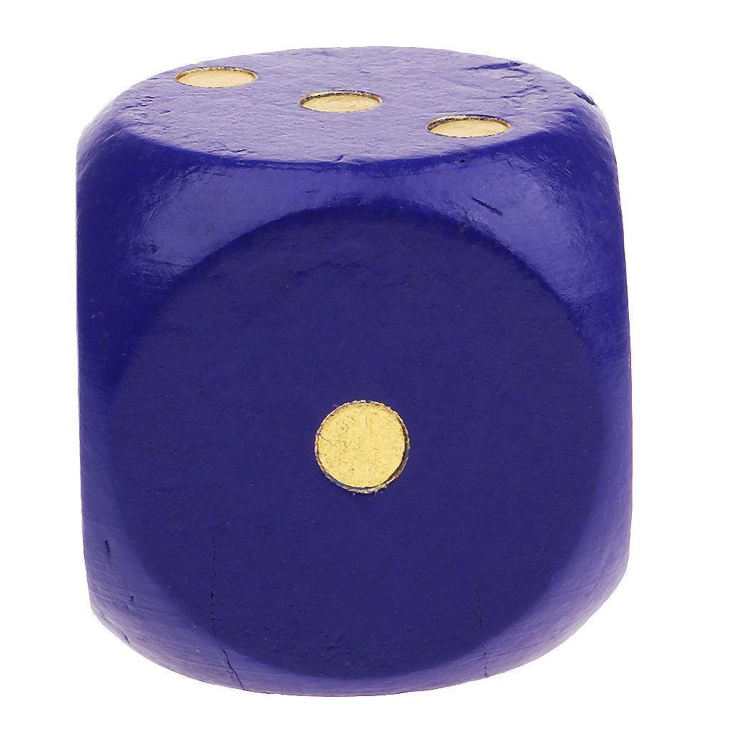 Creative-Wooden-D6-Six-Sided-Dice-Role-Playing-for-DND-Casino-Supplies thumbnail 3