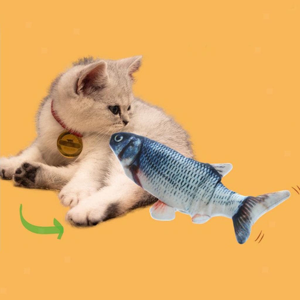 Indexbild 3 - Elektrische Simulation Fisch Haustier Katze Spielzeug Kinder Spielzeug USB Lade