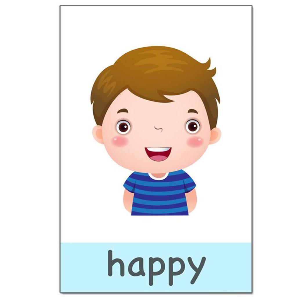Emotion-Cartes-Flash-Image-Prescolaire-Et-Mot-Carte-Flash-Pour-Les-Enfants miniature 6