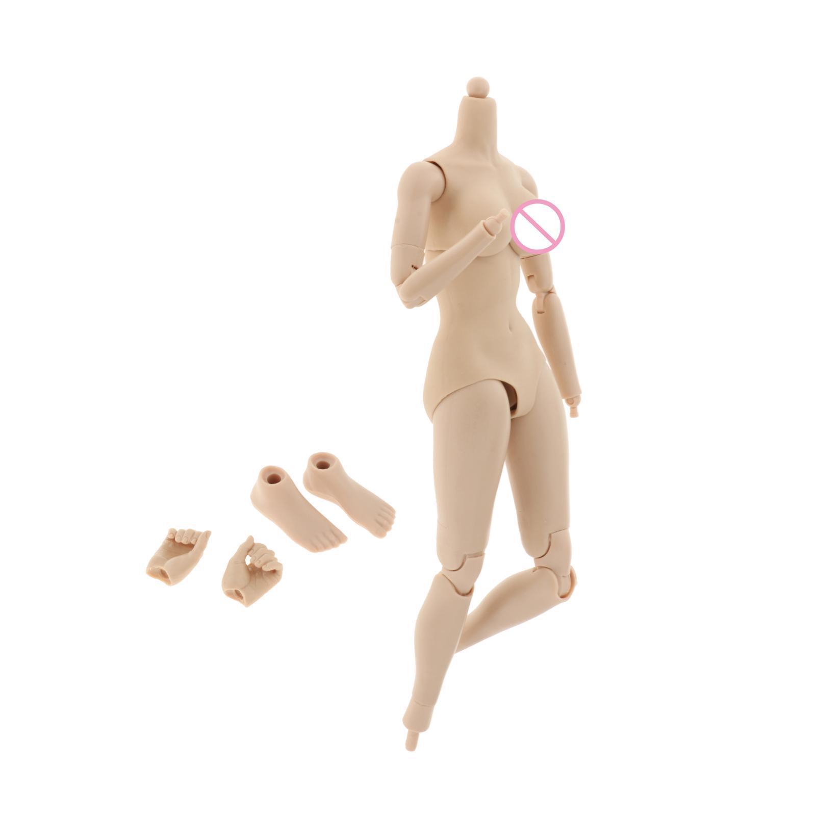 miniature 4 - 1/6 Scale Female Flexible Body 12 Inches Action Figure Body Seamless Figure