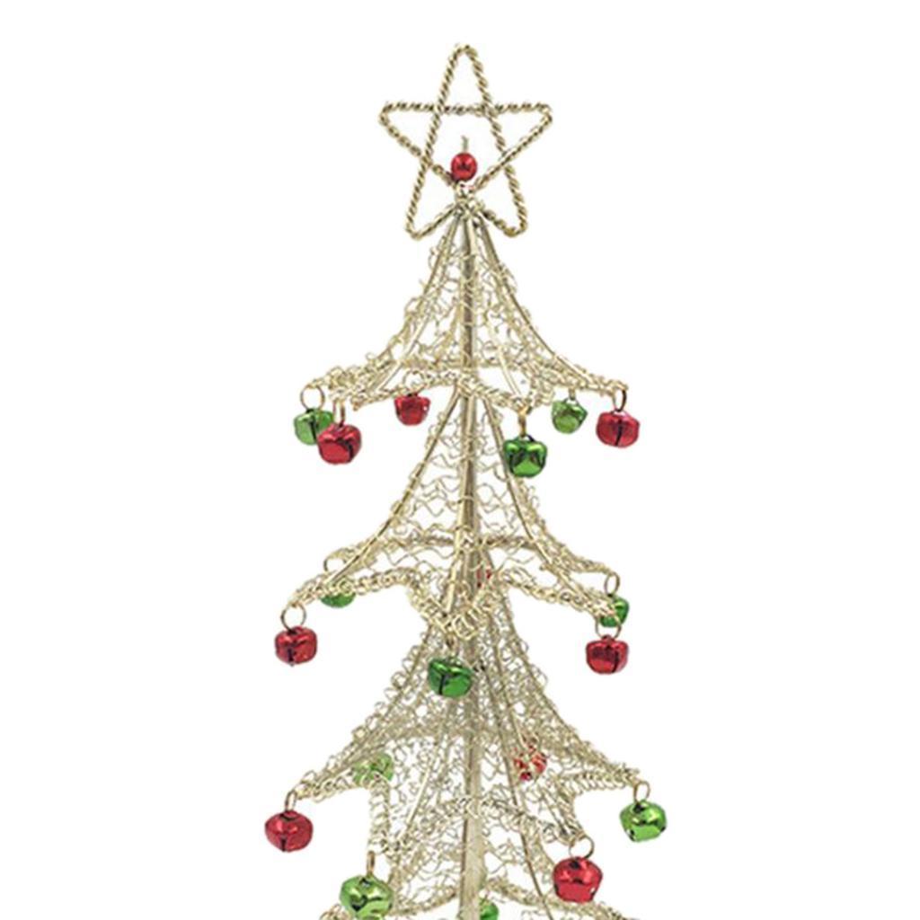 Small Metal Wire Christmas Trees Table Top Christmas ...