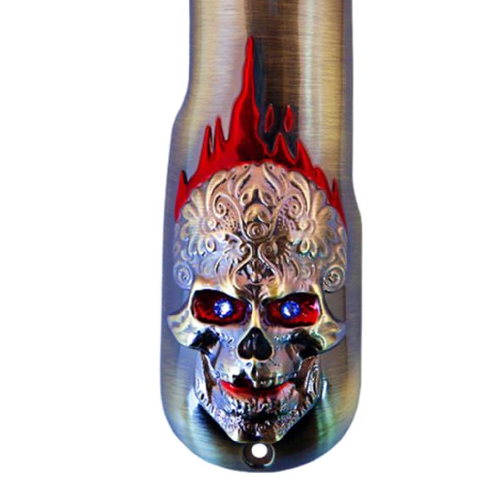 Skull-Electric-Hair-Trimmer-Cover-Hair-Cutting-Clipper-Metal-Back-Cover-Lid thumbnail 7