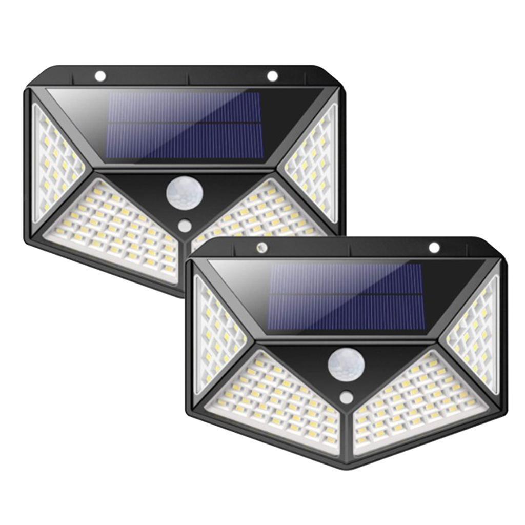 Sensore-di-movimento-a-LED-PIR-solare-Sicurezza-da-giardino-Lampada-da-parete miniatura 7
