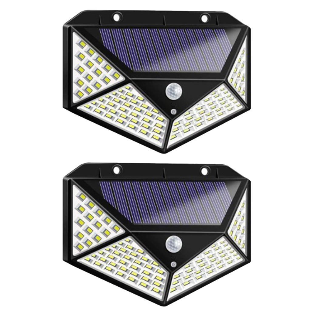 Sensore-di-movimento-a-LED-PIR-solare-Sicurezza-da-giardino-Lampada-da-parete miniatura 6