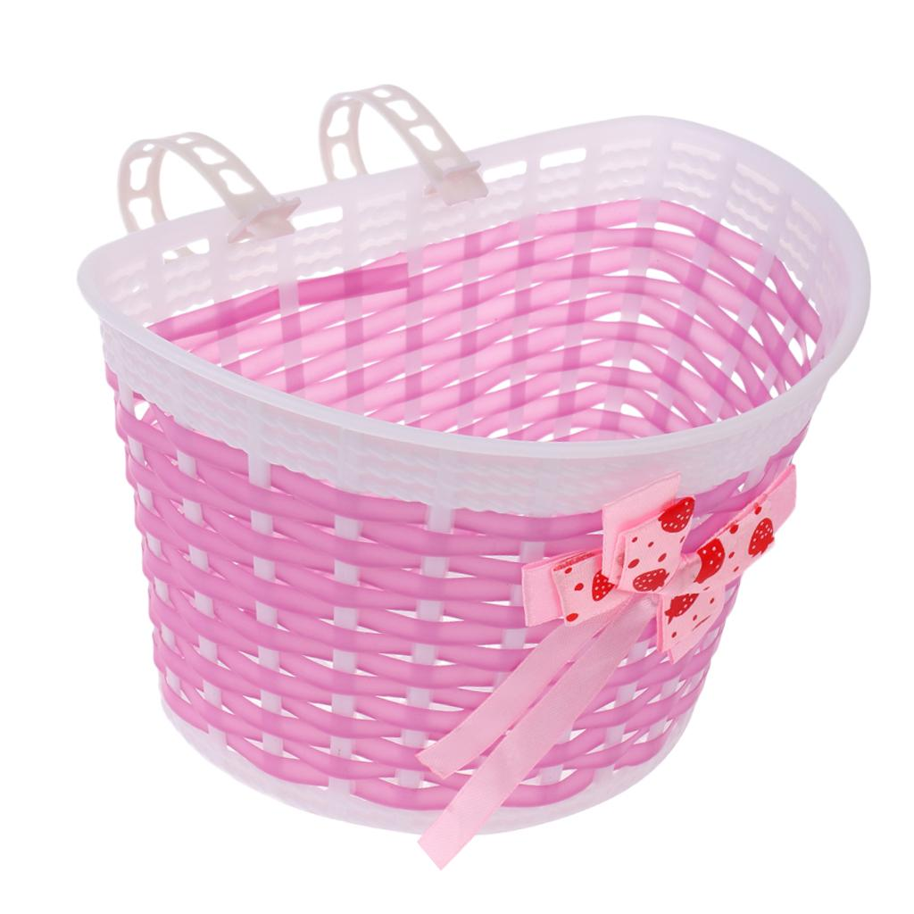 Bicycle Bike Front Basket Cycling Shopping Storage for Children Kids Girls
