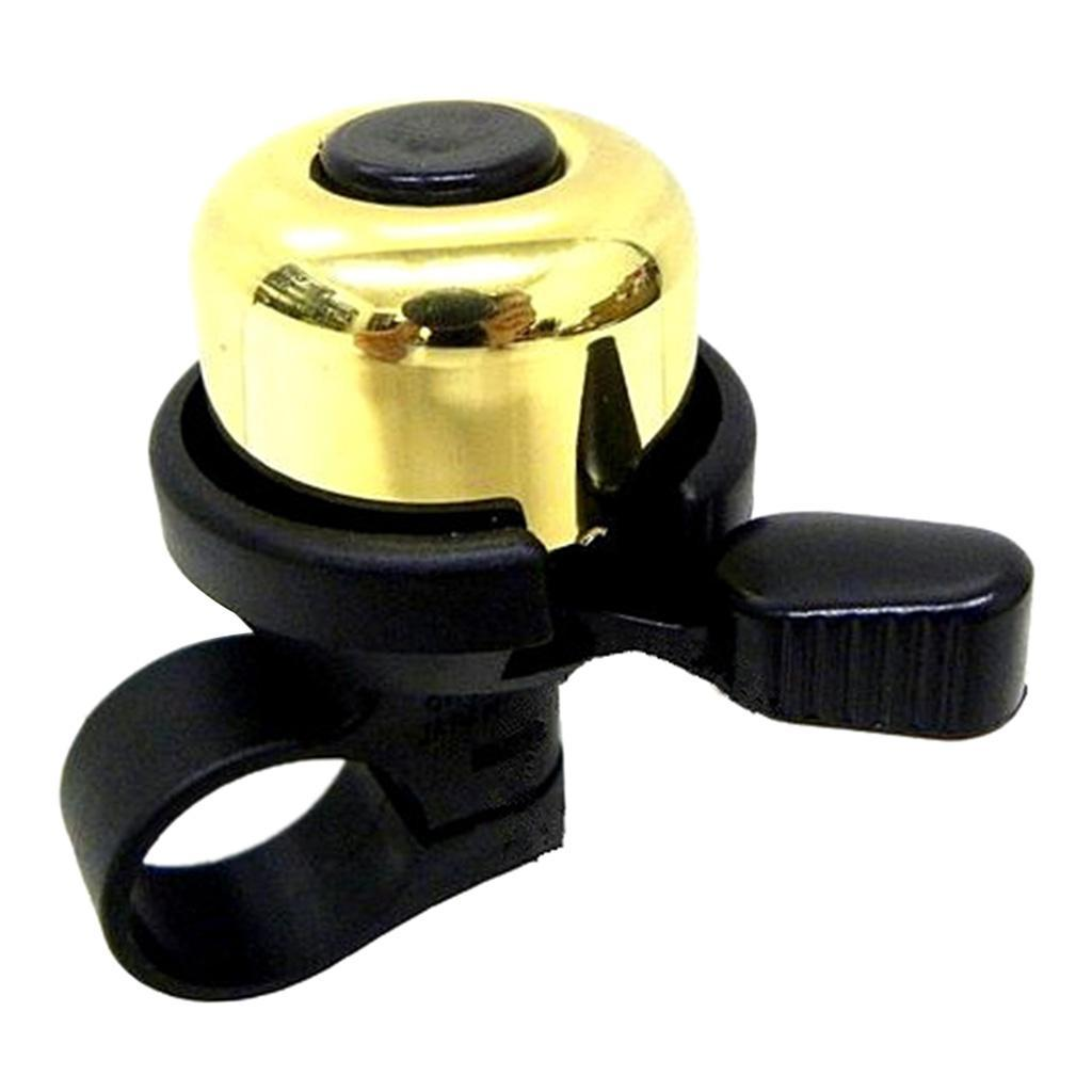 Aluminum Bicycle Bell Kids Loud Crisp Clear Sound Alarm Bicycle Bell Black