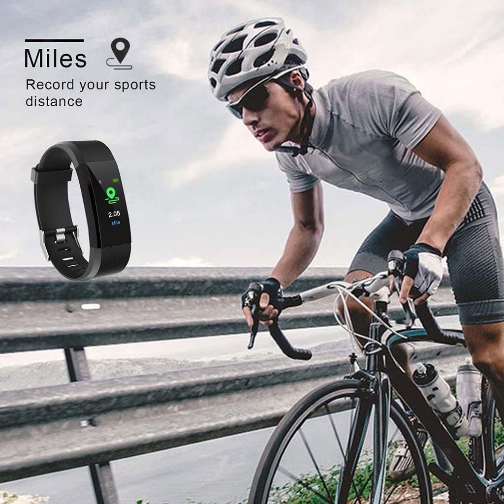 Indexbild 12 - 115Plus Smart Watch Armband Fitness Tracker Herzfrequenzmesser