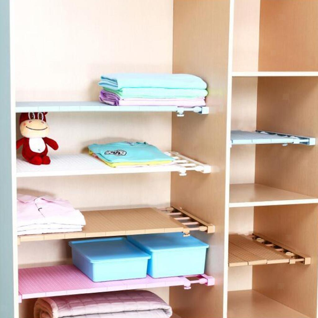 Closet Divider Rack Storage Shelf Wardrobe Space Partition Kitchen Bathroom UK