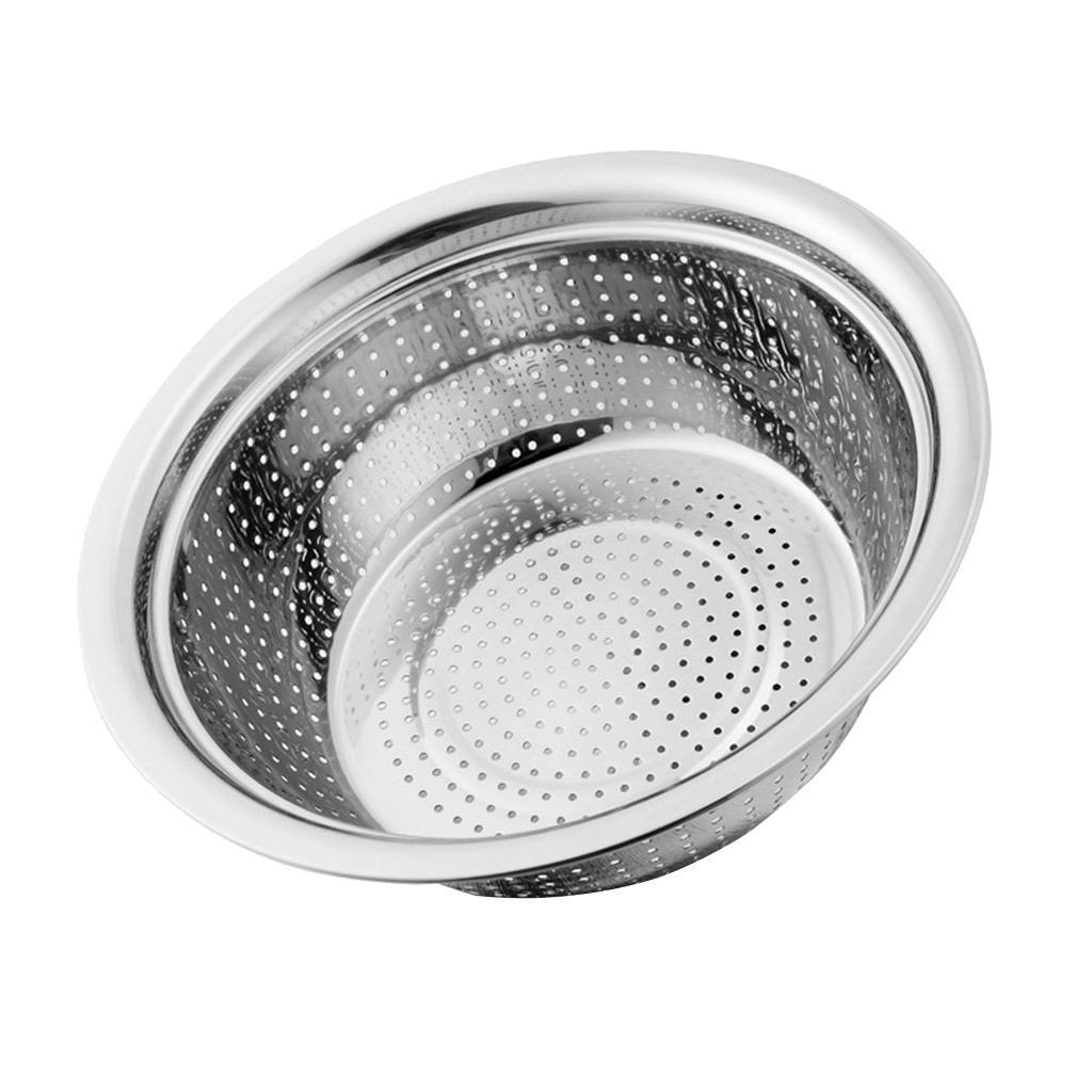 Large-Metal-Pasta-Vegetable-Strainer-Colander-Kitchen-Rice-Sifter-Sieve thumbnail 9