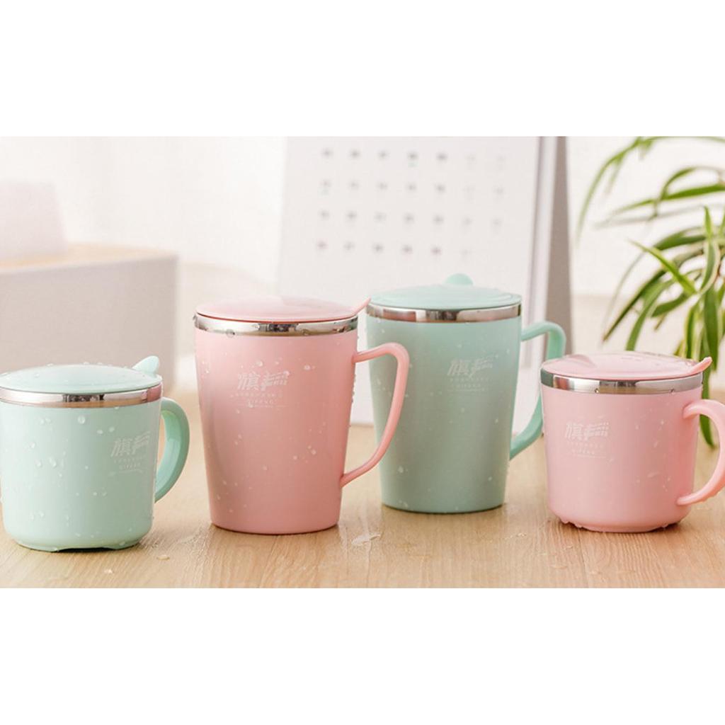 Kindertassen-Kaffeebecher-Kaffeetasse-Tee-Tasse-Becher-mit-Deckel-aus-Edelstahl Indexbild 7