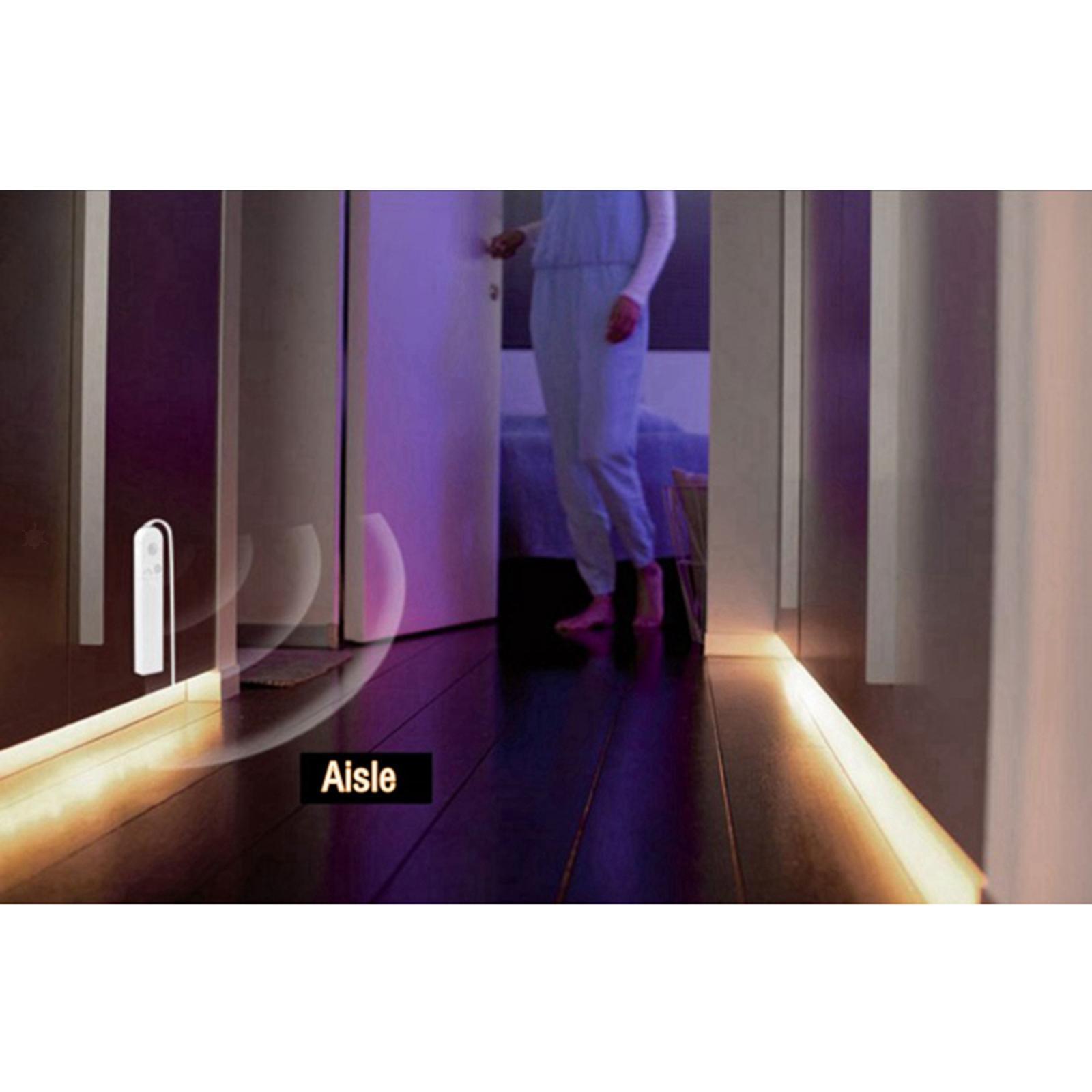 miniature 21 - LED Bande Nuit Lumières 3000k/6000k De Chevet 60LED Bande Lampe Chaud/Froid