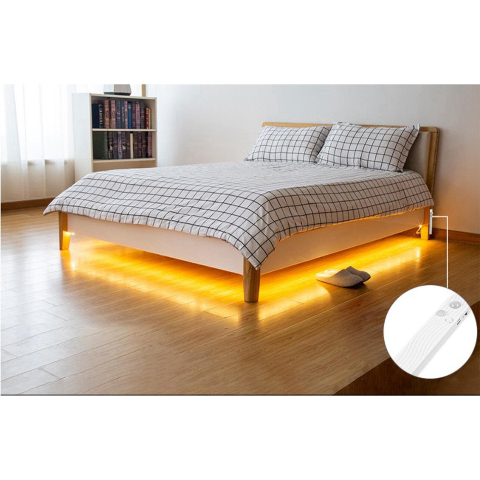 miniature 22 - LED Bande Nuit Lumières 3000k/6000k De Chevet 60LED Bande Lampe Chaud/Froid