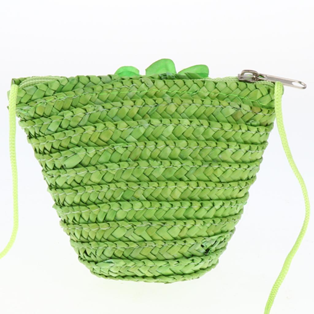 Rattan-Umhaengetasche-Handgewebte-Handtasche-Damen-Strohbeutel-Strand Indexbild 9