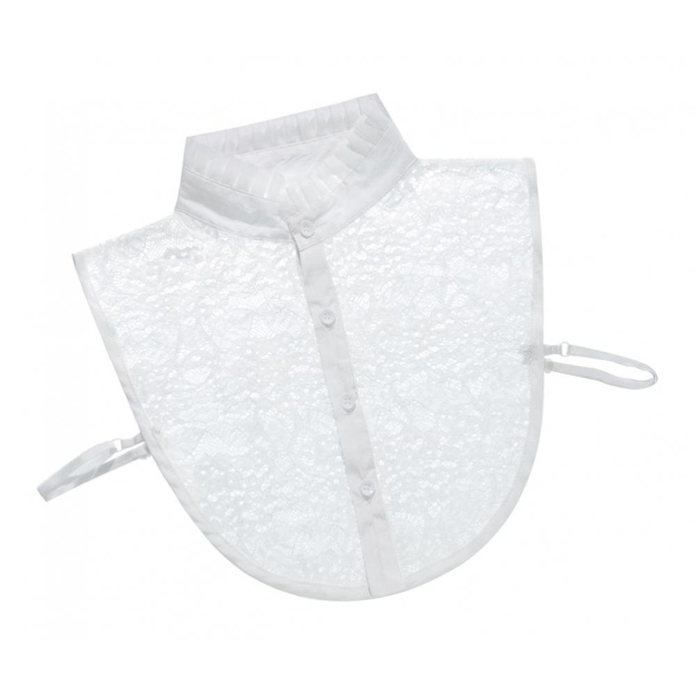 iixpin Modischer Damen Krageneinsatz Rollkragen Abnehmbare Blusenkragen Warm Baumwolle Einsatz Falsche Kragen H/älfte Unterhemd Shirt