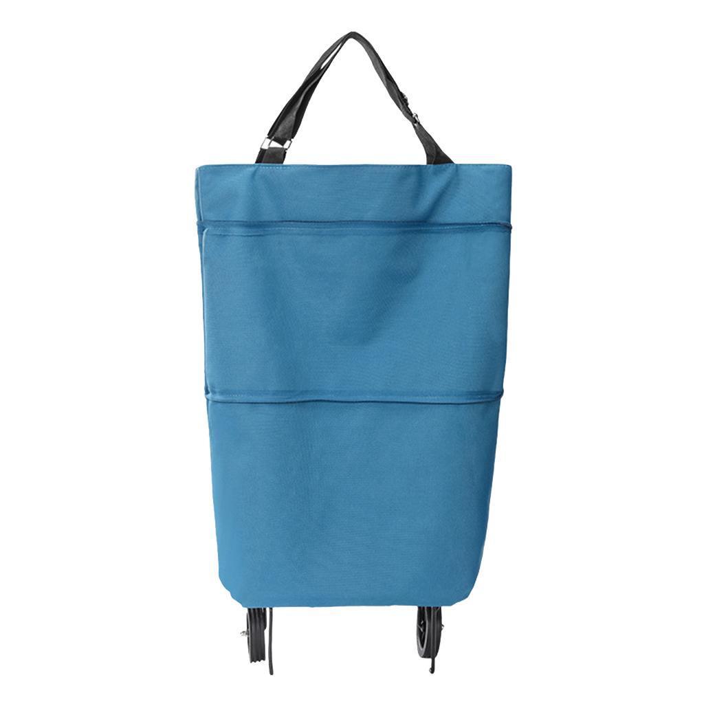 miniatura 9 - Pieghevole portatile per la spesa Sacchetti di stoccaggio Trolley Borsa Carrello