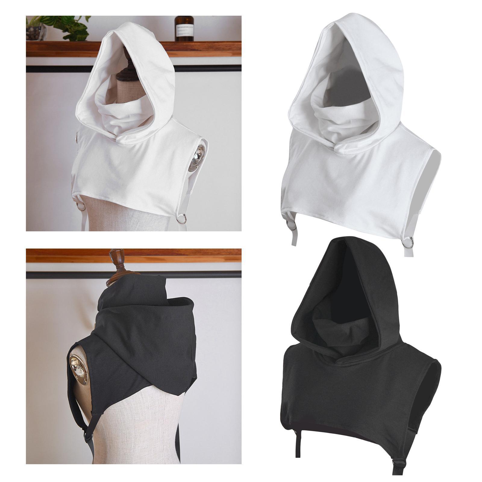Stylish False Collar Hood Cotton Unisex Sweater Jacket Hat Detachable Winter