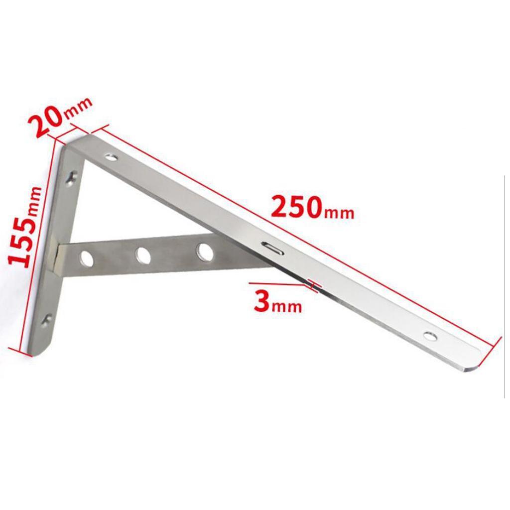 Staffa-Del-Supporto-Dello-Scaffale-Della-Parete-Dell-039-acciaio-Inossidabile miniatura 7