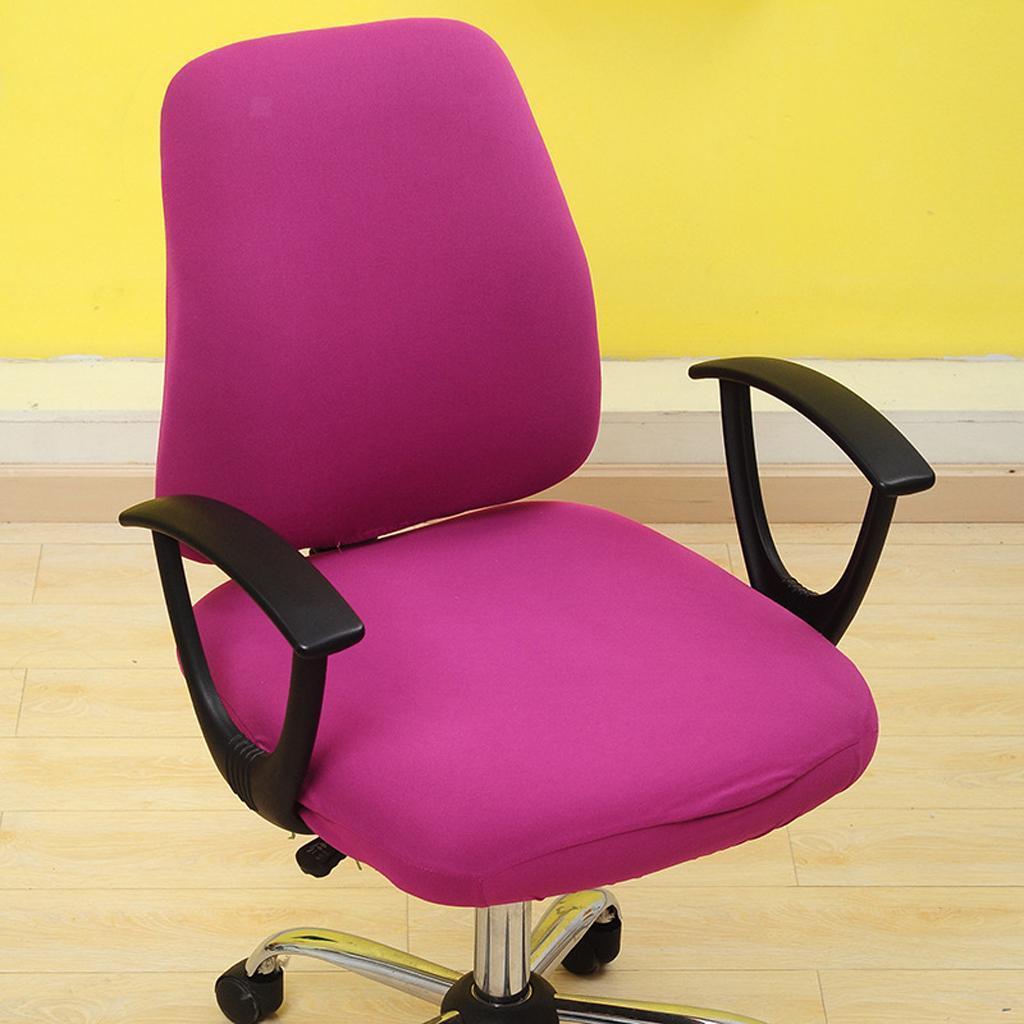 Housse-de-chaise-de-bureau-extensible-souple-Housse-de-chaise-d-039-ordinateur-de miniature 12