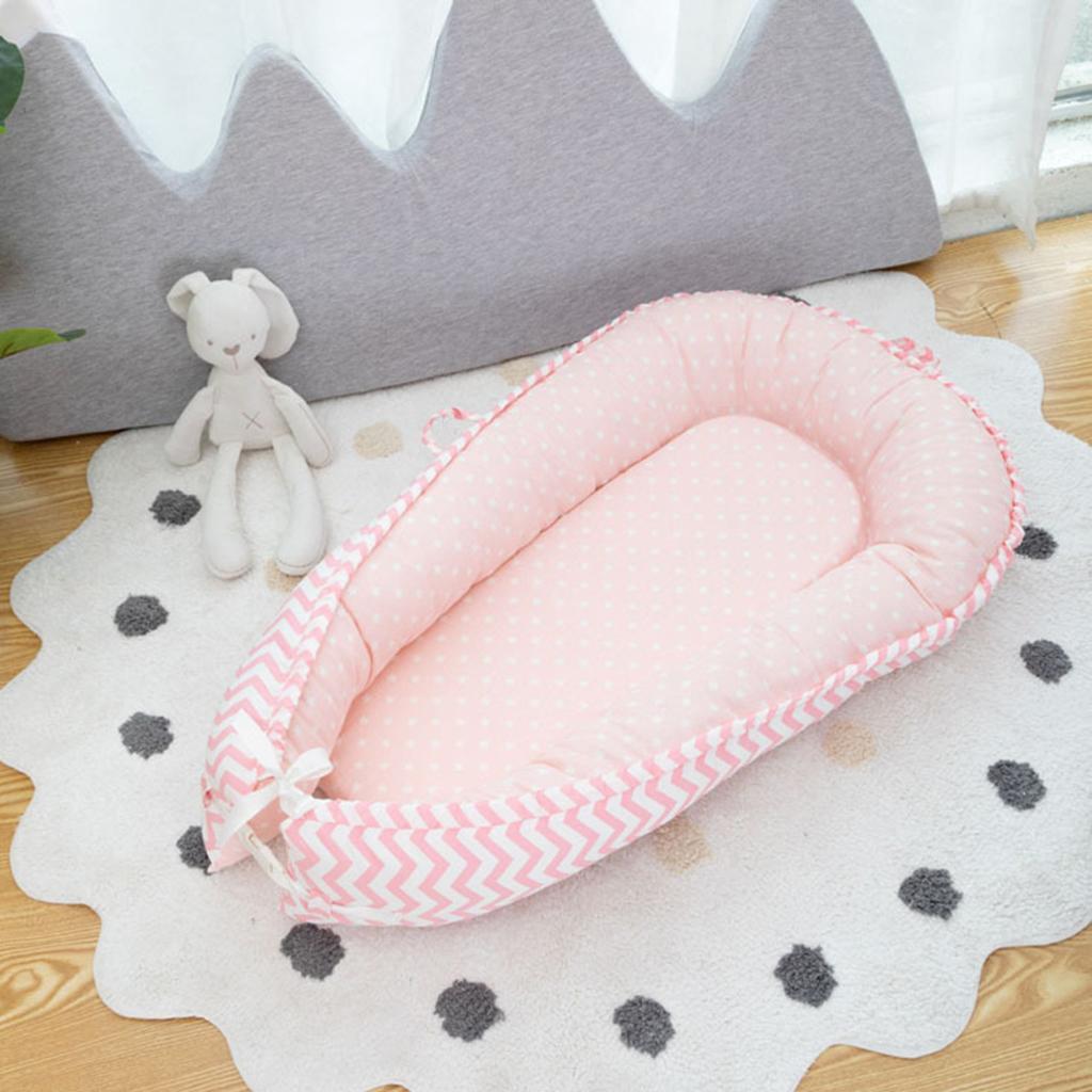 1 Stück Babyliege Tragbare Atmungsaktive Neugeborene Stubenwagen Pink Wave