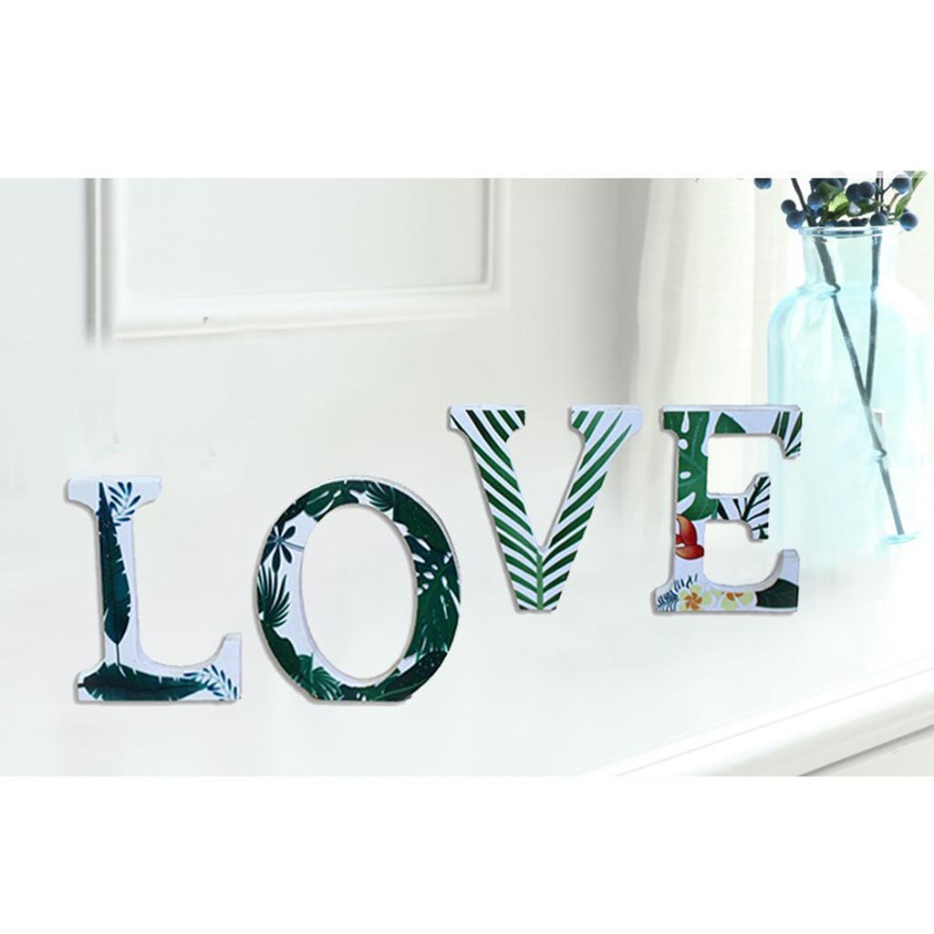 Creative-3D-Wood-Wall-Stickers-Murals-A-Z-Combination-Wedding-Reception thumbnail 7