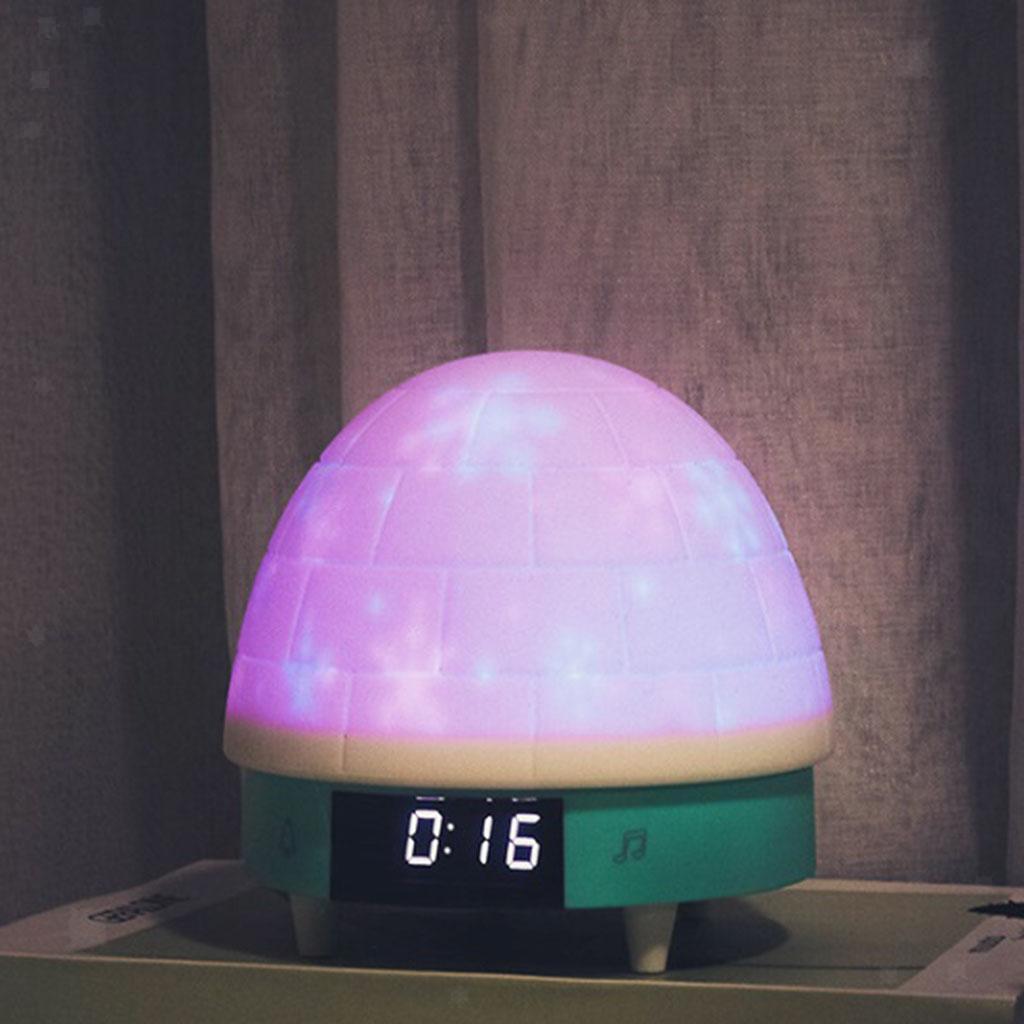 Sveglia-Ricaricabile-A-Luce-Notturna-Con-Tocco-In-Silicone-RC-Per-La-Camera-Dei miniatura 3