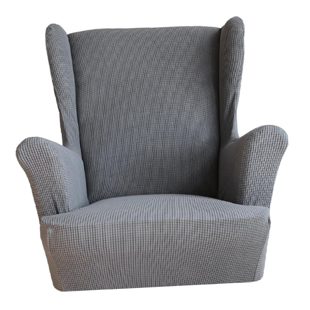 Washable Stretchy Wingback Armchair Cover Wing back ...