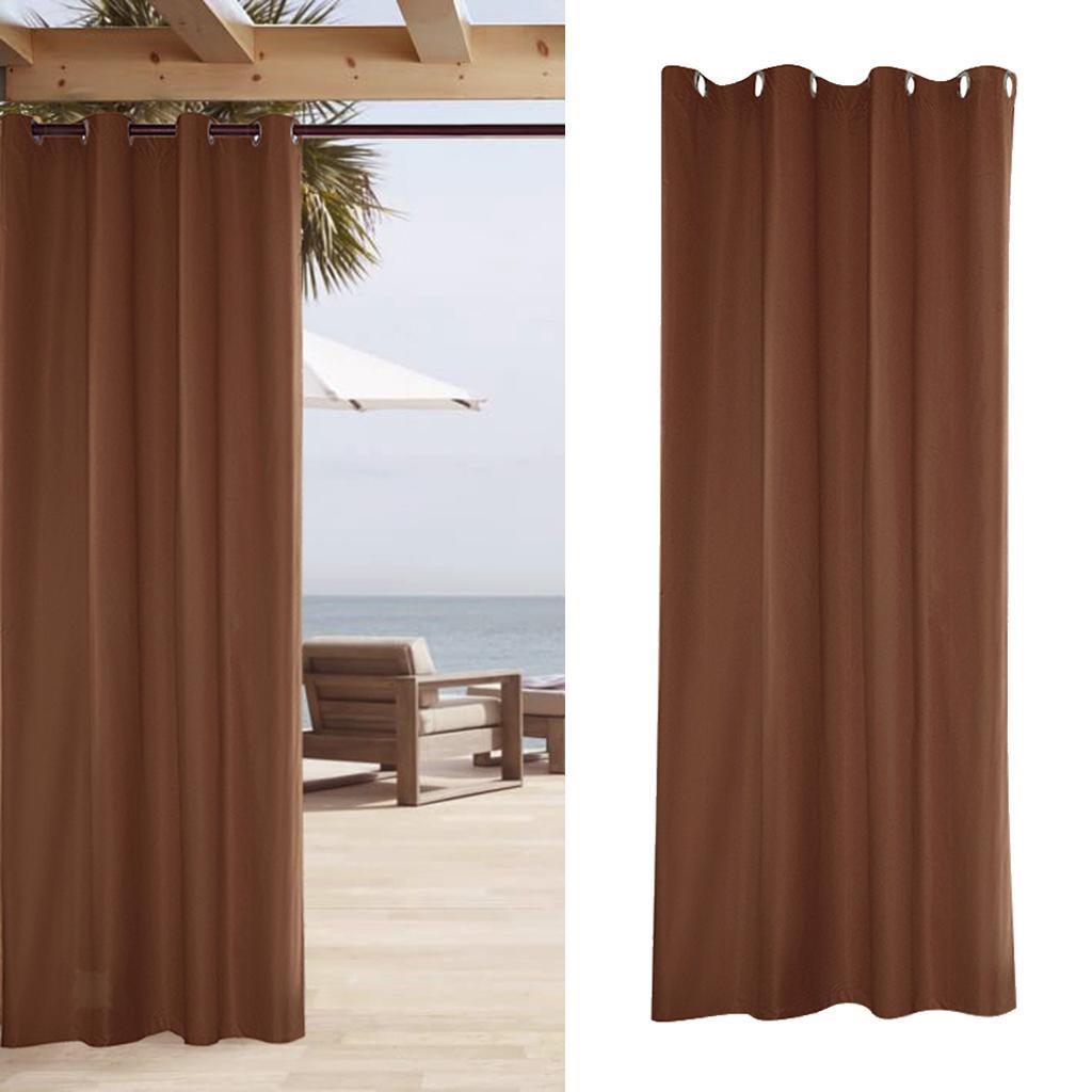 Outdoor Gazebo Curtain Patio Deck Cabana UV Sun Protect Drape Panel Waterproof
