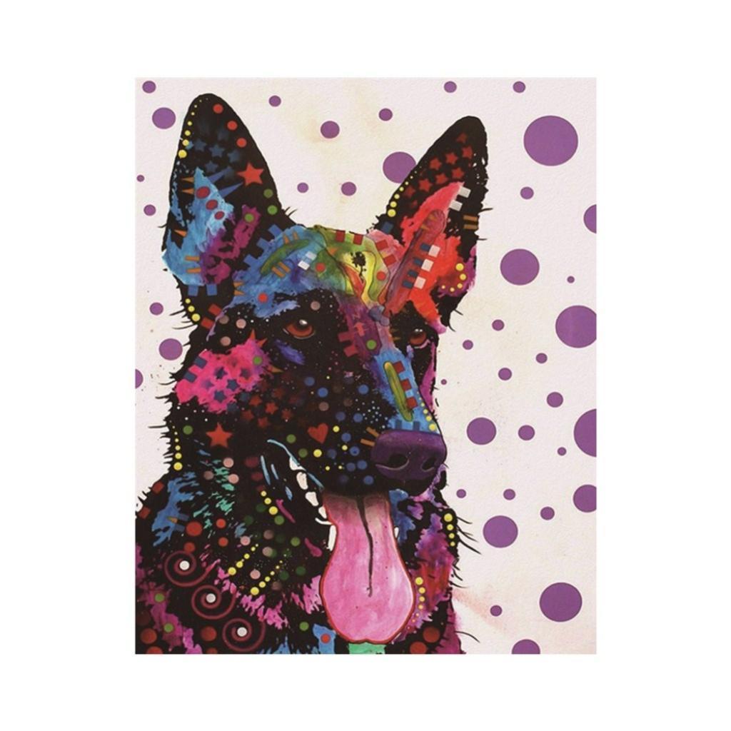 rainbow animal 5d dog diamond painting diy embroidery cross stitch kits gift