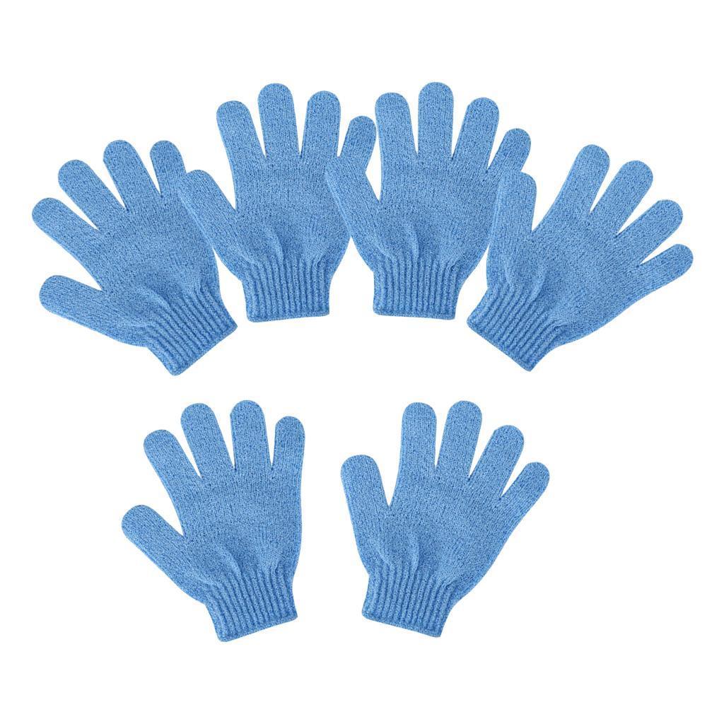 miniatura 4 - 3 Paia Di Guanti Esfolianti Per Il Corpo Body Spa Glove Dry Skin Brush Scrubber