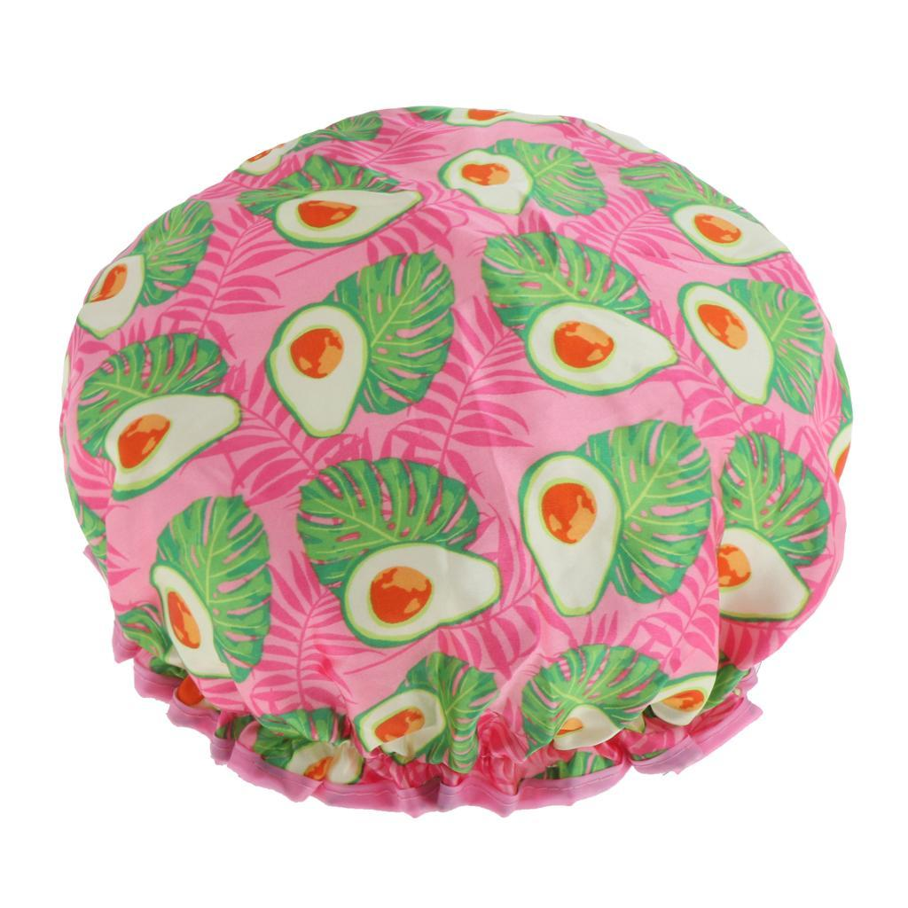 Bonnets-de-Douche-Impermeables-et-Reutilisables-pour-Femmes-Double-Couche-Spa miniature 14