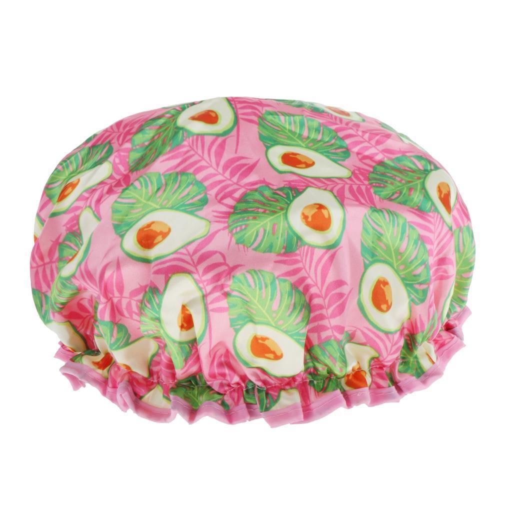 Bonnets-de-Douche-Impermeables-et-Reutilisables-pour-Femmes-Double-Couche-Spa miniature 13