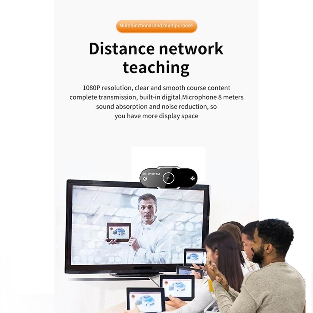 miniatura 7 - Webcam HD, webcam per PC Videocamera per computer mini USB Videocamera con