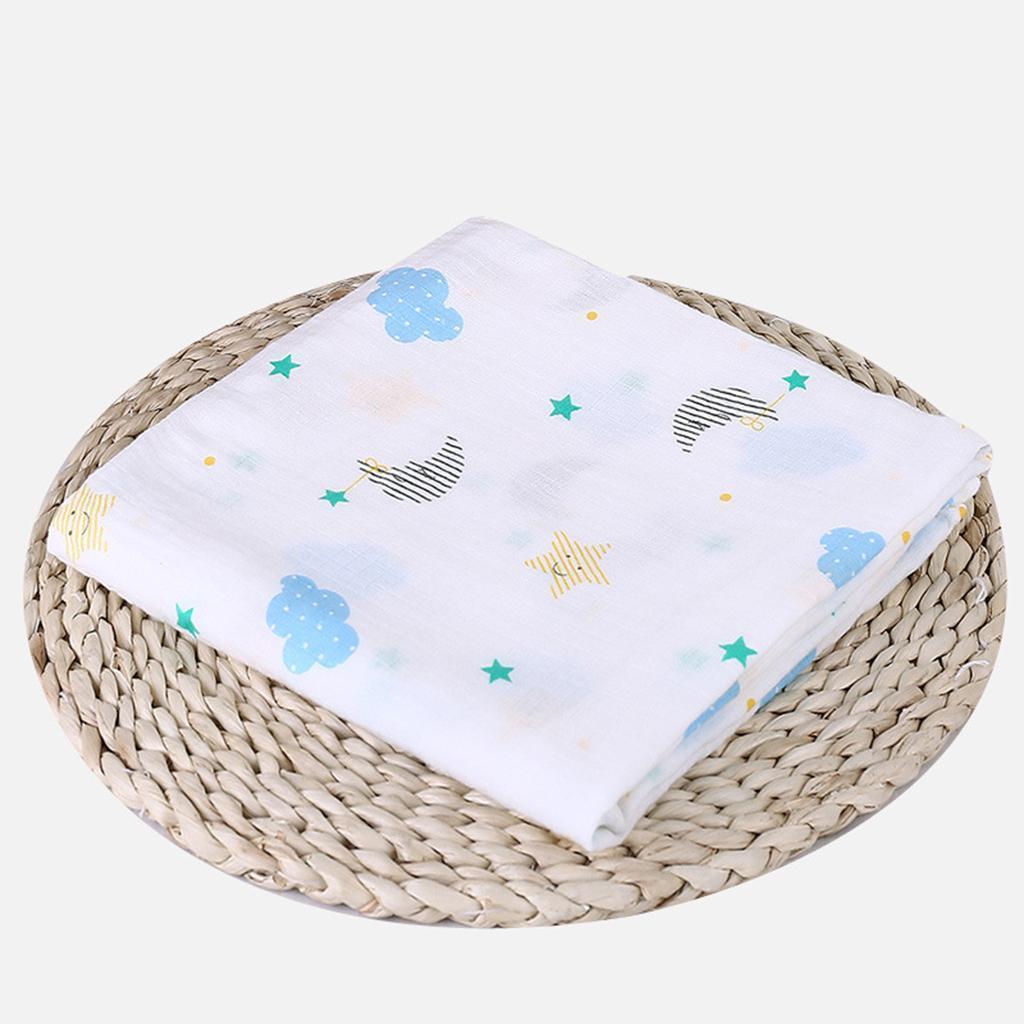Babywickeldecken-Tiere-Drucken-Kinderwagen-Kinderbett-Baumwolle-Musselin Indexbild 6